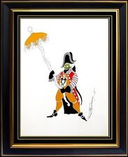 ERTE Original Gouache Painting Signed Artwork Deco Costume Design Folies Bergere