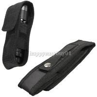 Nylon Holster Holder Case Belt Magic Tape Carry Pouch for LED Flashlight Torch