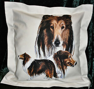 Hand Crafted Collie dog cushion cover