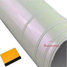 1.5m x 3m White Purple Chameleon Iridescent Vinyl Wrap Car + FREE SQUEEGEE