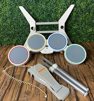Nintendo Wii Wired Rock Band Drum Set 19092 With Pedal !