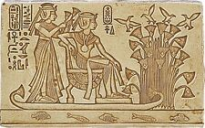 King Tutankhamen and Wife on Nile Relief Egyptian Replica Fragment E-045S