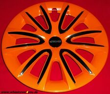 4 Radkappen FREE orange glanz-schwarz mit 2 x Klarlack 15 Zoll--NEU--TOP