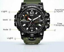 Montre militaire homme 50m étanche bracelet LED Quartz horloge Sport étanche
