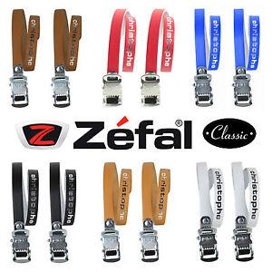 Leather Zefal Christophe 516 Leather Toe Clip Straps All Colours L'Eroica Retro