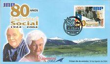 Chile 2004 FDC 80 años Seguridad Social