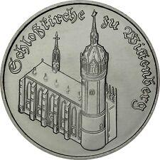 DDR 5 Mark 1983 bankfrisch Schlosskirche zu Wittenberg in Münzkapsel