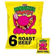 Mega Monster Munch Roast Beef Snacks 22g x - 6 per pack (0.29lbs)