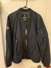 Superdry Men's Rookie Duty Bomber Jacket Navy Blue, Full Zip, XL, New with Tags