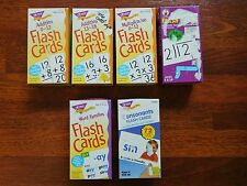 Math & Reading Flash Cards Lot / Multiplication,Division,A ddition,Word Families