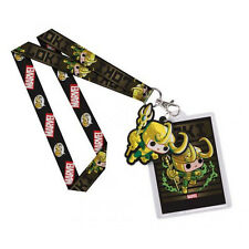 OFFICIAL MARVEL'S THOR - LOKI FUNKO POP! TILED BLACK LANYARD (BRAND NEW)