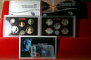 2019 US Mint Silver Proof Set with Special Edition with W Penny