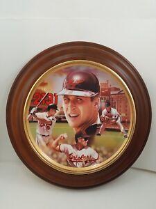 Cal Ripken Jr.Bradford Exchange Plate 1st Issue Baseball Record Breakers W/Frame