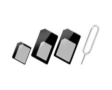 SIM Kartenadapter 3 in 1 -SIM /Micro-SIM /Nano-SIM -verstärkter Rahmen - schwarz