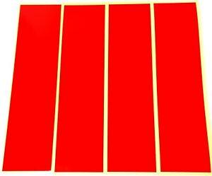 "RED REFLECTIVE STRIPS OF VINYL/TAPE 8"" x 2"" sticky back, crafts, signs,safety."