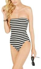 Kate Spade York Women's Black Striped Bandeau One-piece Swimsuit 0922 Size Small