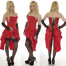 Burlesque Bustle Steel Boned Corset DRESS ALTERNATIVE FANCY DRESS