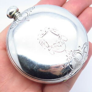 Antique Warranted Coin Silver Open Face Large Pocket Watch Case