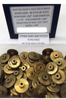 BOSTON GEAR BRASS G-1022 WORM GEAR FOR CLOCK TELESCOPE MODEL RAILROAD ETC. LOOK!