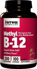 Jarrow Formulas Methyl B-12 Vitamin, 500 micrograms, 100 Lozenges