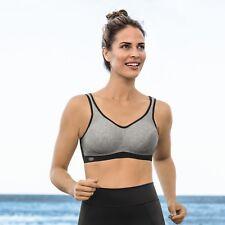 Anita Extreme Control Post Mastectomy Sports Bra Heather Grey - 5727x