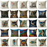 "18""Oil Painting Pattern Cotton Linen Throw Pillow Case Cushion Cover Home Decor"