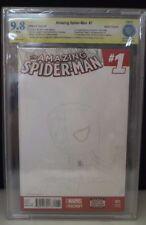 CBCS 9.8 Amazing Spider-Man #1 Blank Variant Fabio Napoleoni SKETCHED SIGNED