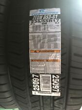 4 New 235/55R17 Cooper Zeon RS3-G1 Tires 99 W Fits Cadillac DTS And Other GM