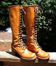 Vintage FRYE Tall Lace-up Logger Boots Womens 7.5