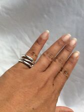 Beautiful Tiffany & Co Italy  Modernist sterling 925 ring size 6