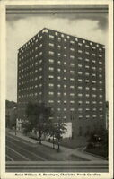 Charlotte NC Barringer Hotel Postcard
