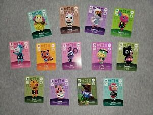 Animal Crossing Amiibo Cards (Series 1-4) You Choose AUTHENTIC