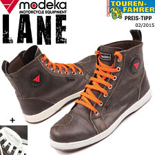 Modeka Motorradschuh Lane - Ledersneaker In Vintagelook mit Knöchelschutz