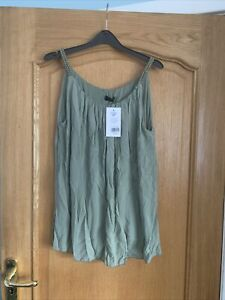 New Fabulous Lurex Khaki Coloured Top One Size Best Suited To Size 16-20