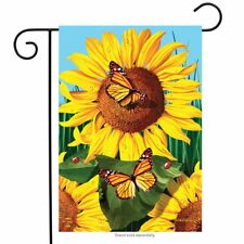 "Sunflower Field Summer Garden Flag Butterflies Floral 12.5"" x 18"" Briarwood Lane"