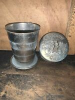 Rare Vintage 1897 Cyclist's Collapsible Metal Drinking Cup Bicycle