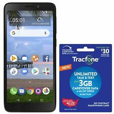 Tracfone Tcl A1 4G Lte Prepaid Cell Phone w/ $30 Airtime Plan Included