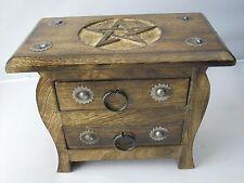 Pentagram Chest 2 draw Altar spells supplies Pagan Wiccan Witchcraft