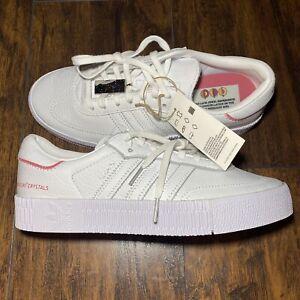 Adidas Originals X SWAROVSKI Sambarose W [H05131] Women Size 9 White    Pink NWT