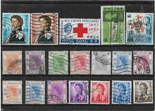 HONG KONG 1950's-1960's MIXTURE WITH HIGH VALUES USED COLLECTION