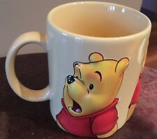 Disney Store Winnie The Pooh Teddy Bear 3D Red/Gold Ceramic Large Coffee Mug Cup