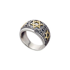 Star Of David Ring Gold and Silver for Men