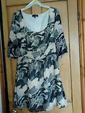 Ladies Asos Dress Size 12 Cream Dark Brown