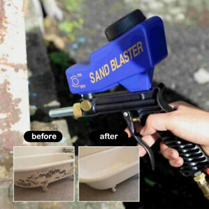 Air Sandblasting Gun Hand Held Sand Blaster Portable Shot Media Blasting