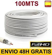 Cable Coaxial de Antena para TV TDT SAT 100mts Metros Alta calidad RG6U 75 OHM