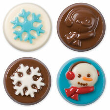 Christmas Snowman & Snowflake Cookie Candy Mold from Wilton #1360 - NEW