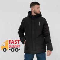 Crosshatch - Men's Padded 'Crayford' Coat - Water Resistant Hooded Winter Jacket