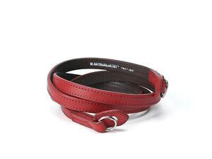 Artisan & Artist ACAM 280L Italienisches Leder Kamera Gurt - Rot Extra Lang