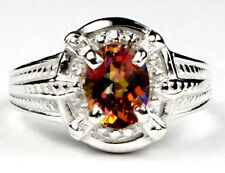 Twilight Fire Topaz, Solid 925 Sterling Silver Ring, SR284-Handmade