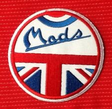 MODS UNION JACK BRITISH FLAG MOD VESPA SCOOTER LAMBRETTA BADGE IRON SEW ON PATCH